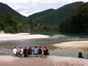 Vistas al río al lado del Beach Stage